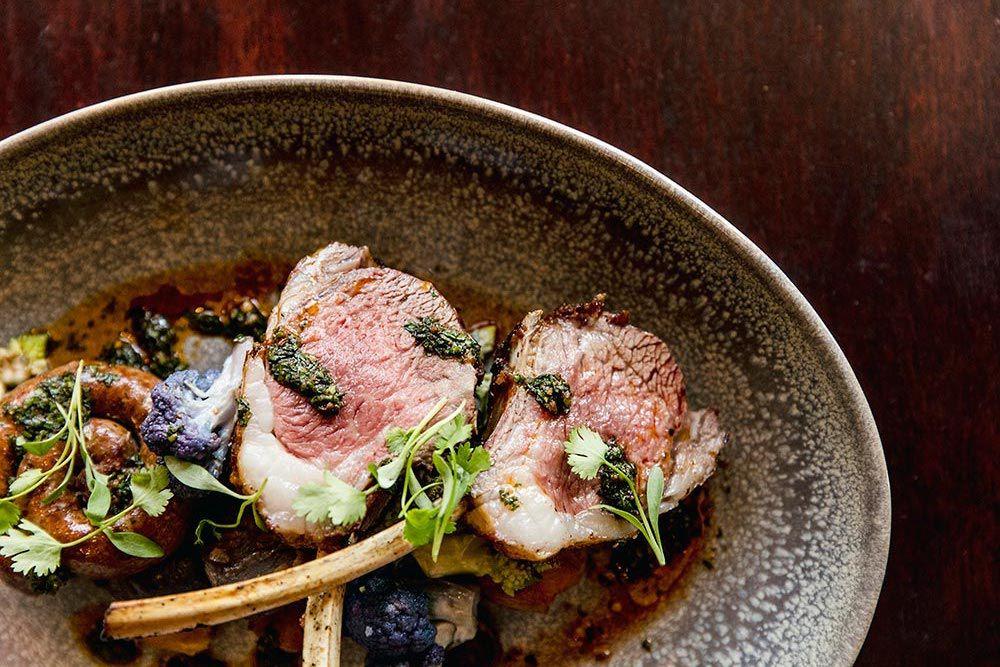 Lamb chops at Park Tavern