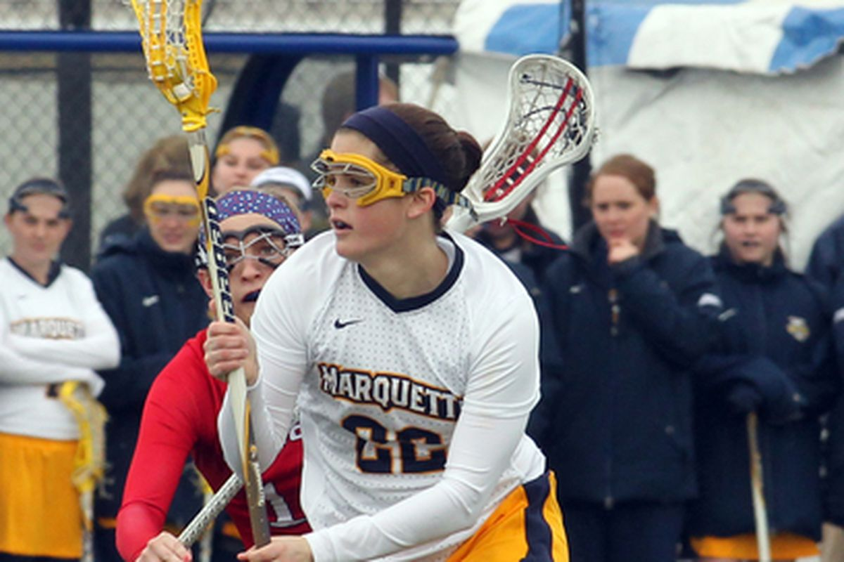 Hayley Baas scored with just over 12 minutes left to pull MU within 1, but they couldn't get closer.