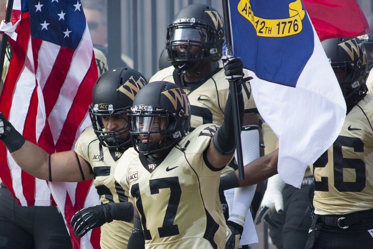 The Wake Forest Demon Deacons open the gate