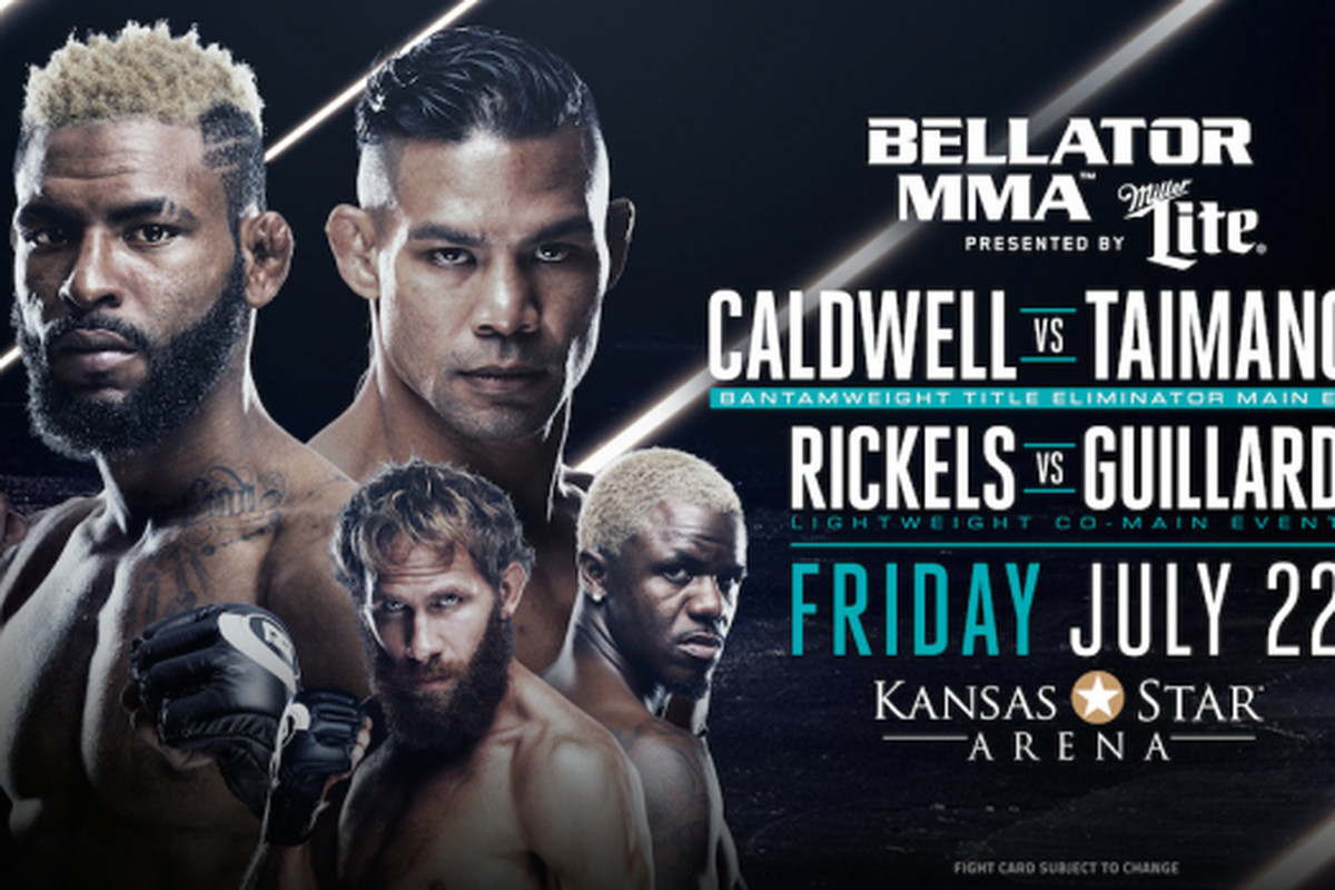 Bellator 159 Caldwell vs Taimanglo live results streaming video