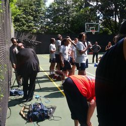 Fever team on court