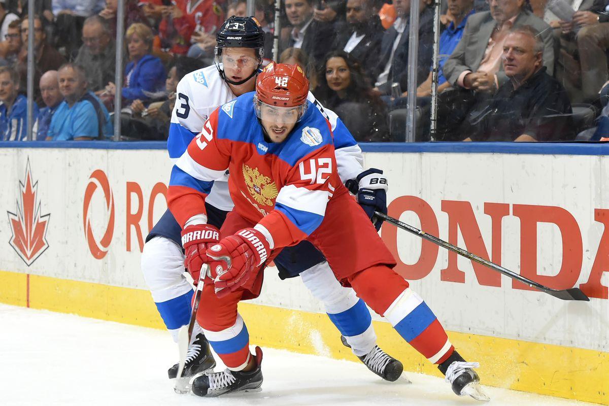 Hockey: World Cup of Hockey-Team Finland vs Team Russia