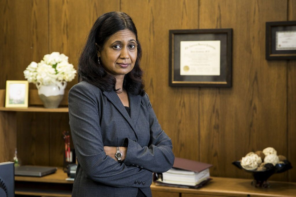 Dr. Ponni Arunkumar, Cook County's chief medical examiner.   Ashlee Rezin / Sun-Times