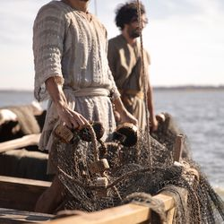 """Simon Peter (Shahar Issac) and his brother Andrew (Noah James) in Episode 4 of """"The Chosen."""""""