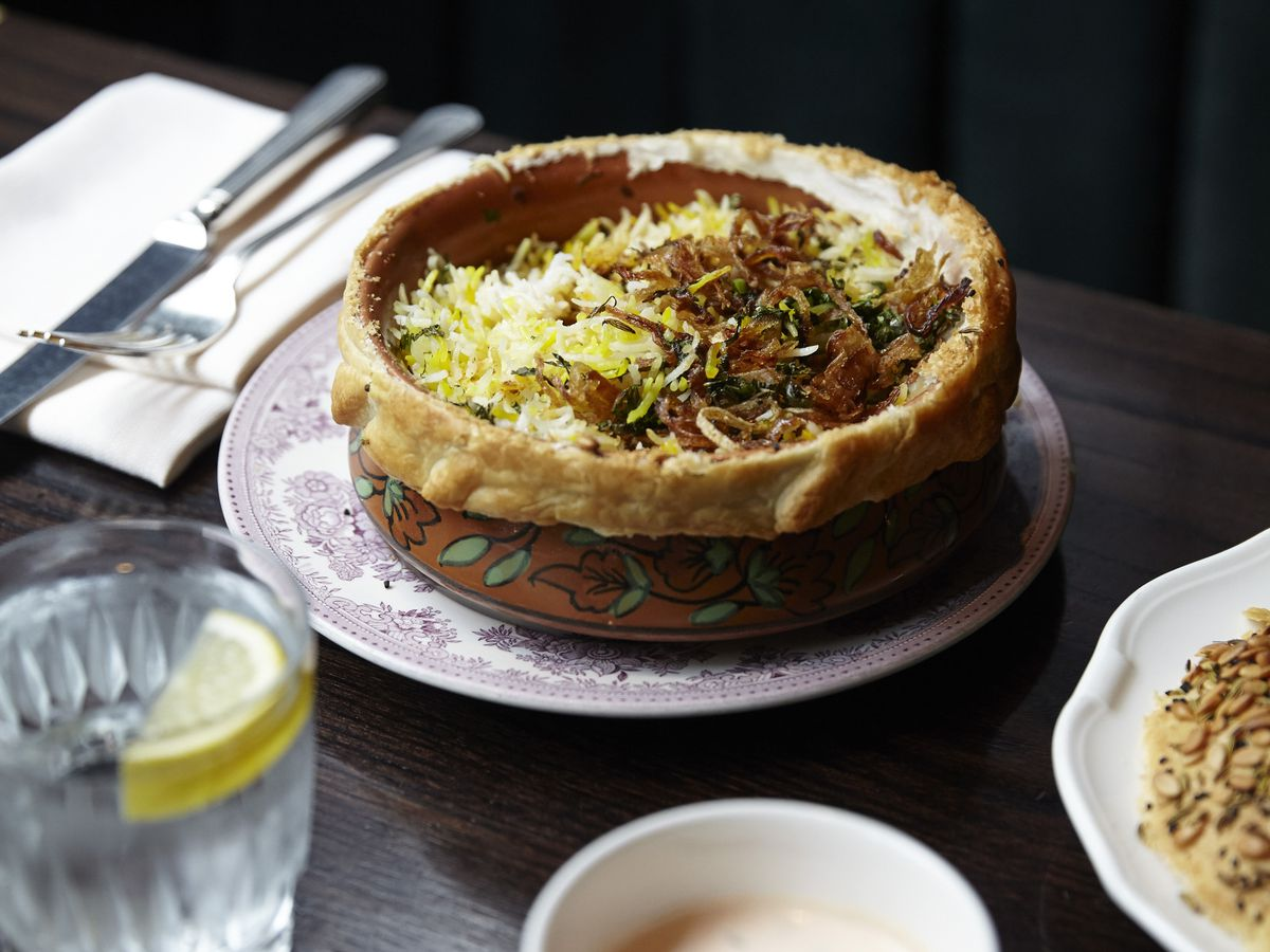 Venison biryani at Gymkhana, the Michelin-starred Indian restaurant, which is scheduled to reopen after a June fire, in February