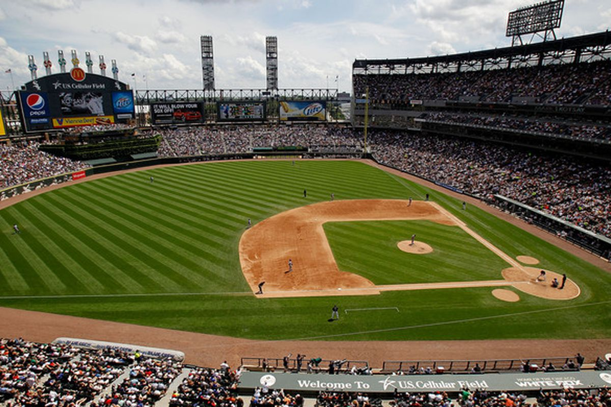 A general view of U.S. Cellular Field as the Chicago White Sox take on the Chicago Cubs on June 27, 2010 in Chicago, Illinois. The Cubs defeated the White Sox 8-6. (Photo by Jonathan Daniel/Getty Images)