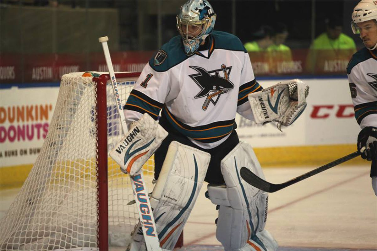 Worcester Sharks goaltender Troy Grosenick made 27 saves Saturday night at the DCU Center for his first professional shutout in only his second professional game.