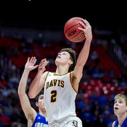 Fremont and Davis compete in the 6A boys basketball championship game at the Huntsman Center in Salt Lake City on Saturday, Feb. 29, 2020.