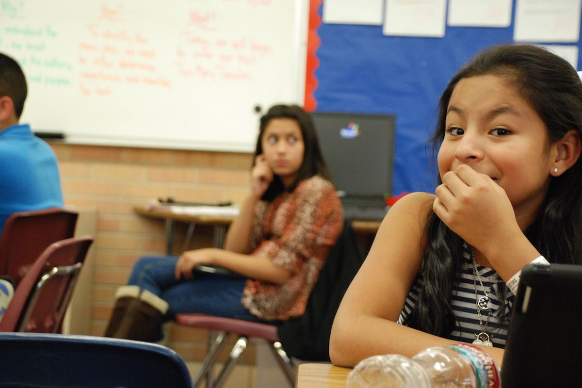 A student at Lumberg Elementary School in Jefferson County.