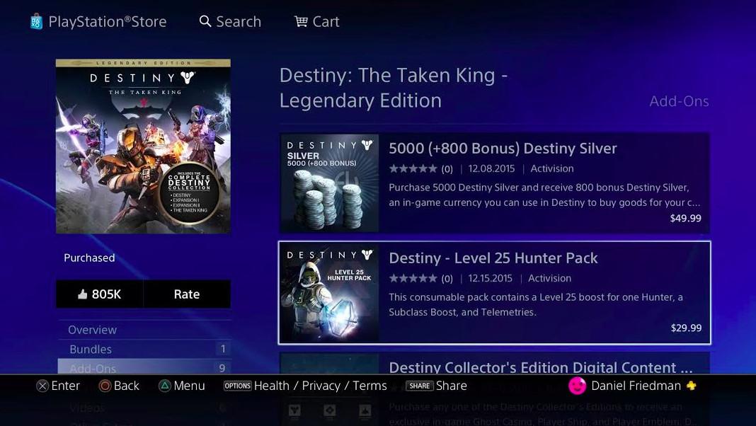 Destiny leveling
