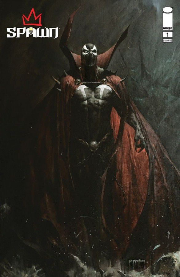 Spawn looms on the cover of King Spawn #1 (2021).