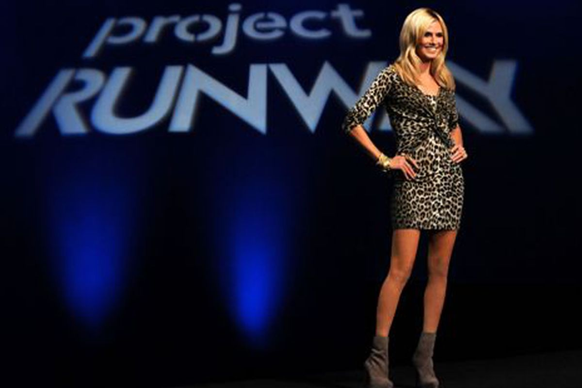Project Runway host Heidi Klum, in earlier, less stressful, days