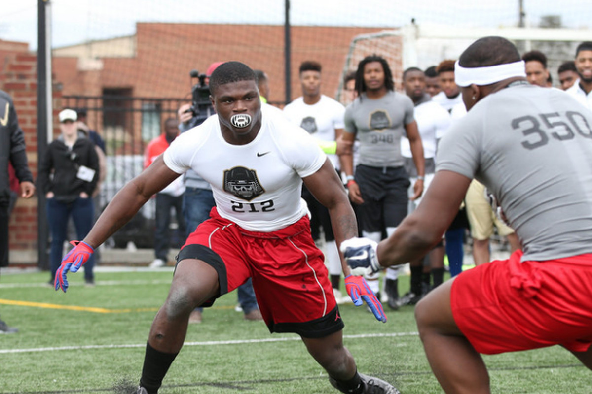 Tadarian Moultry at Nike's The Opening camp.