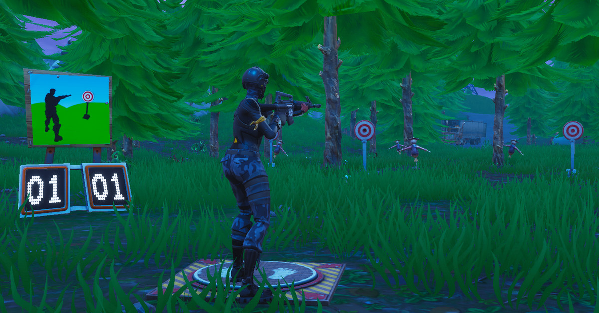 Shooting Gallery Locatios: Fortnite Challenge Guide: Get A Score Of 5 Or More At The
