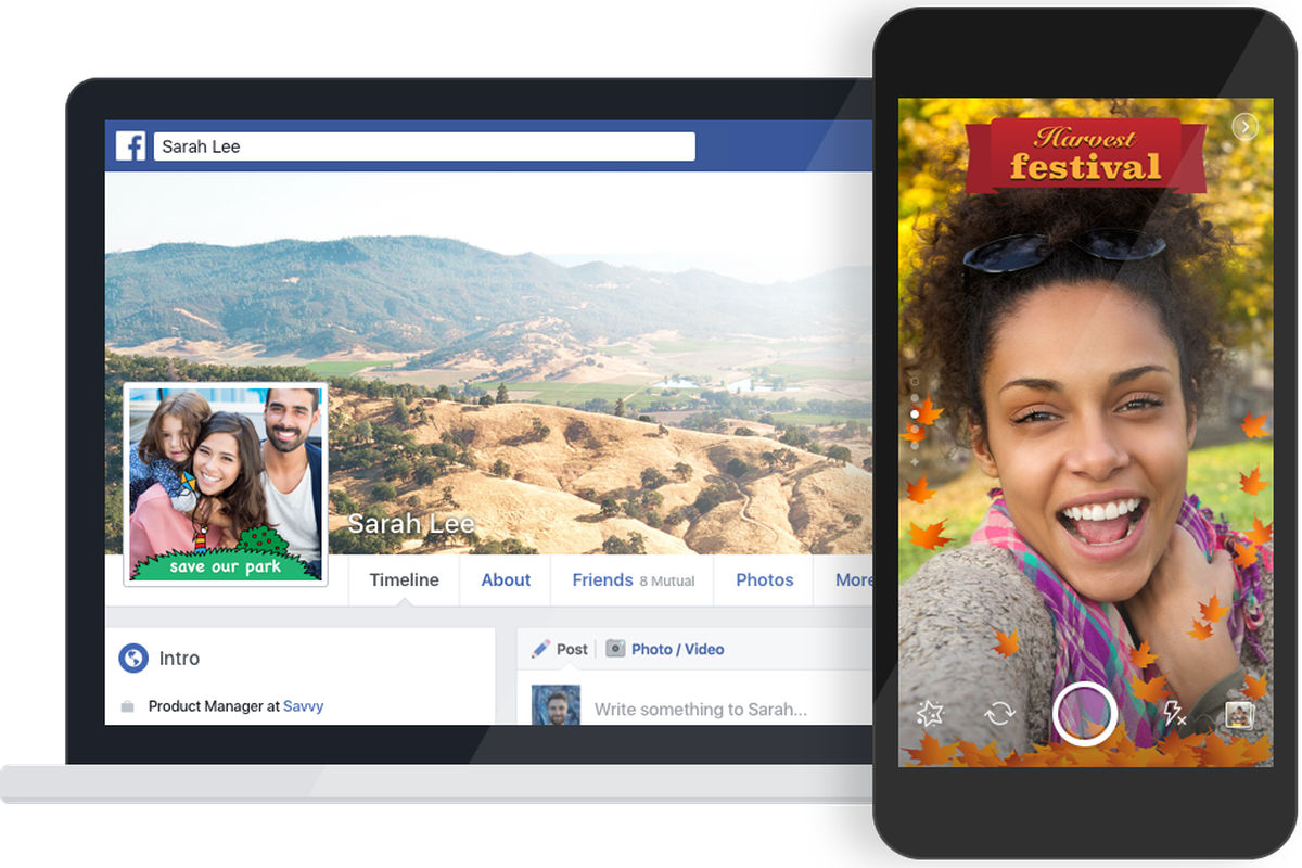 Facebook now lets anyone make their own snapchat like photo frame out its in app camera features releasing a new tool that lets members of the public create and submit their own custom photo frames for others to use jeuxipadfo Gallery