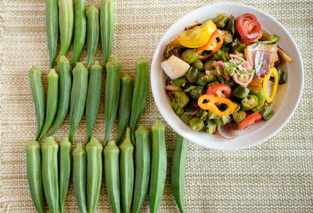 Stir-fried okra from Keeva