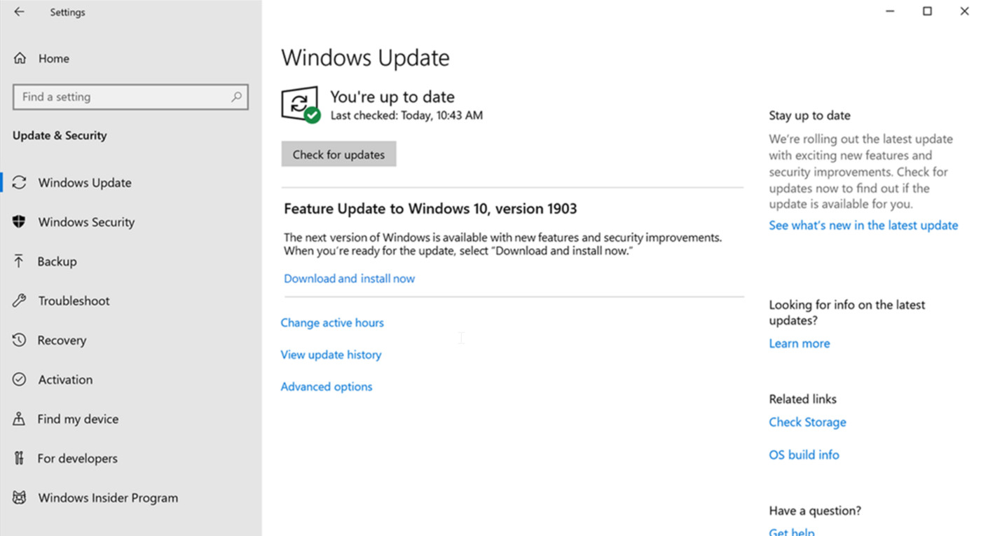 Microsoft's Windows 10 May 2019 Update puts you back in