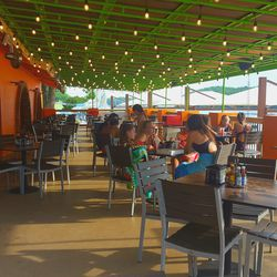 The open-air Paradise Beach offers fast-casual dining to Lake Lanier visitors.