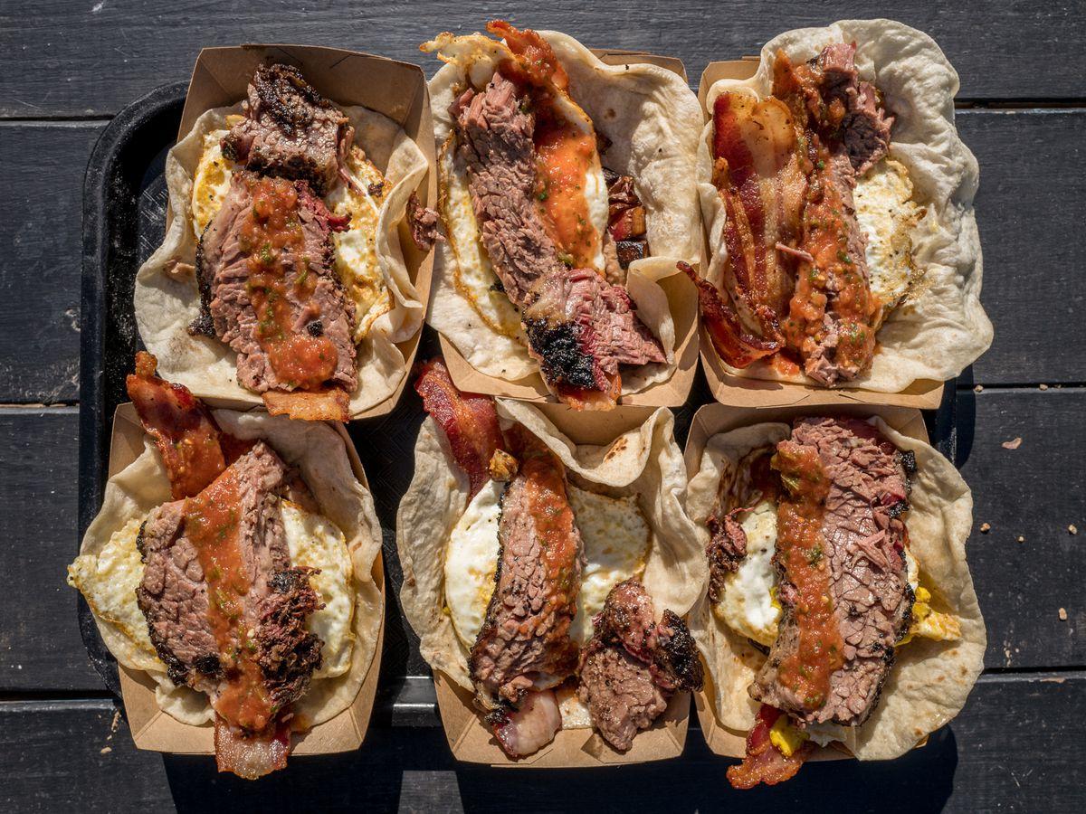 Breakfast tacos from Valentina's Tex Mex BBQ