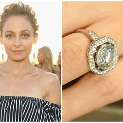 The round-cut dazzler Joel Madden offered Nicole Richie in 2010 — created by renowned celebrity jewelry Neil Lane — weighs in at just a hair over four carats.