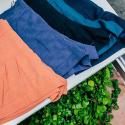 """High-Waisted Shorts, <a href=""""http://7115newyork.com/collections/apparel/products/high-waisted-shorts-ii"""">$78</a>"""