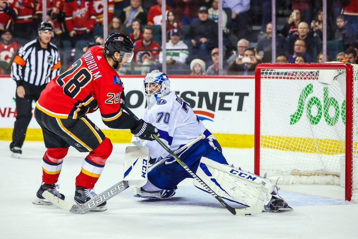 NHL: Tampa Bay Lightning at Calgary Flames