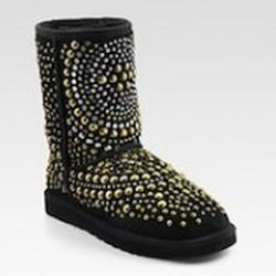 """<strong>Jimmy Choo X UGGs.</strong> Star-spangled, fringed, leopard print…mercifully, at least not all together. Available at Saks and <a href=""""http://www.jimmychoo.com/browse/ugguk?ex=co_wizr-locayta&collate=pdxtshoetype&collate=pdxtbootstyp"""