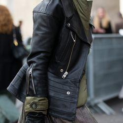 Leather details in Paris.