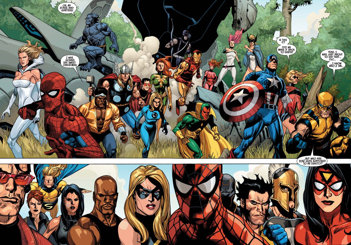From Secret Invasion #1, Marvel Comics (2008).