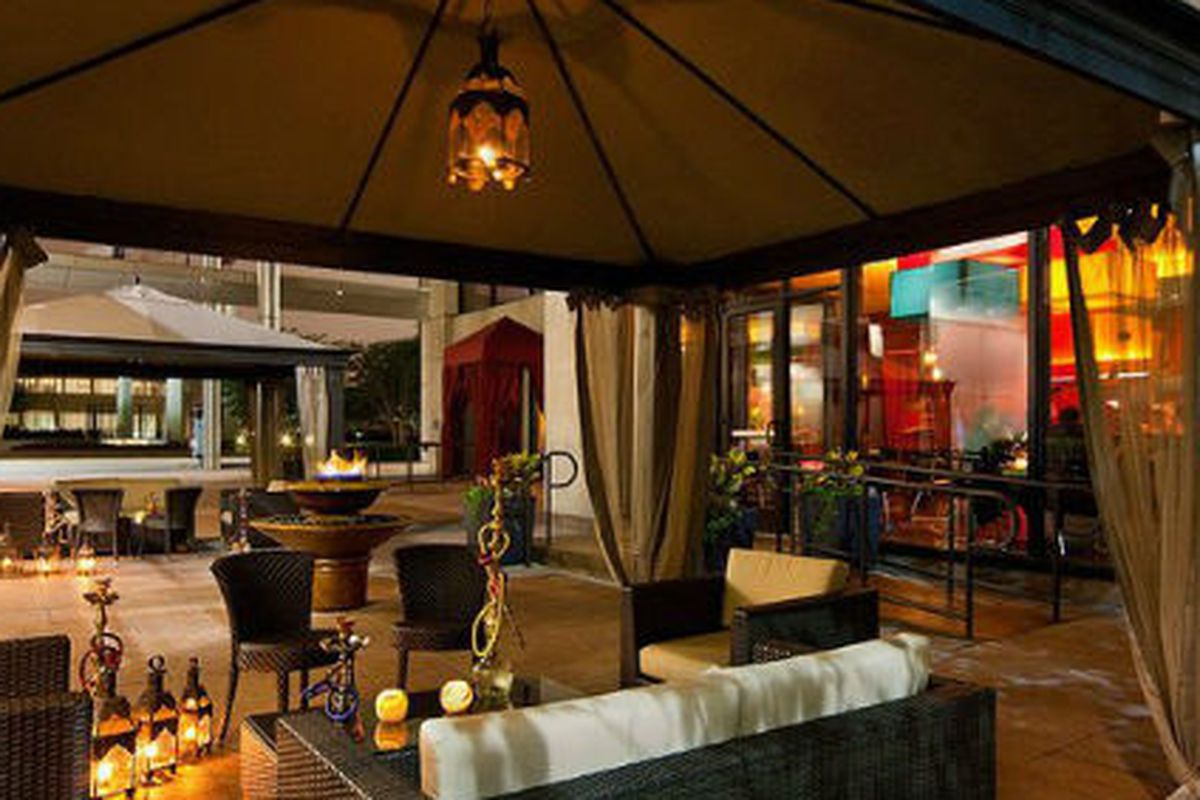The luxe patio at Samar.