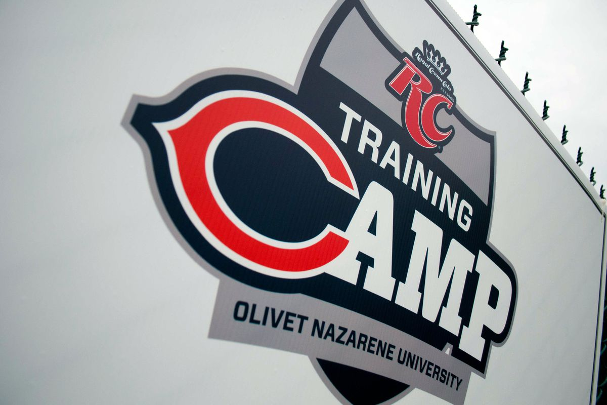 Jul 26, 2012; Bourbonnais, IL, USA; Chicago Bears training camp logo during the opening day of training camp at Olivet Nazarene University. Mandatory Credit: Bradley Leeb-US PRESSWIRE
