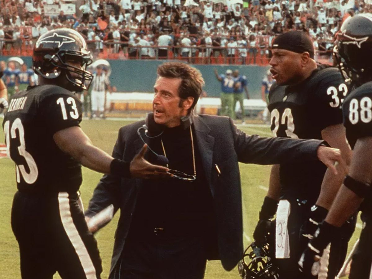 A scene from Any Given Sunday, filmed at the Orange Bowl