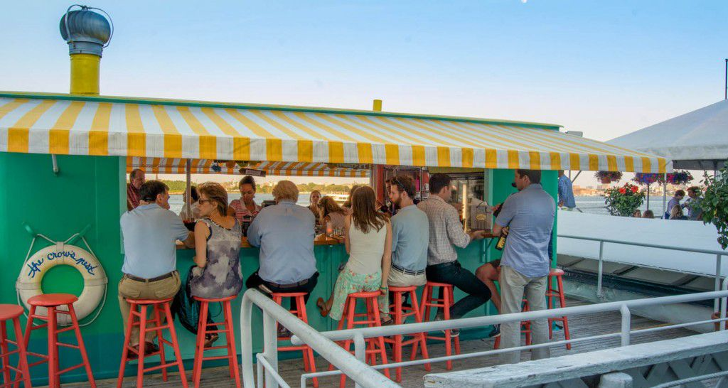 Signs of Summer: Floating Bars and La Sirena's Patio Now Open for the Season - Eater NY