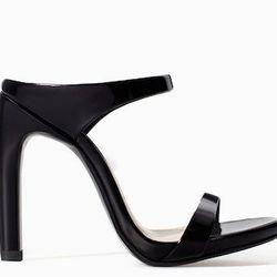 "<b>Zara</b> High Heel Sandal with Ankle Strap, <a href=""http://www.zara.com/us/en/woman/shoes/heeled-sandals/high-heel-sandal-with-ankle-strap-c358014p1778515.html"">$100</a>"