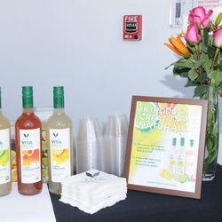 VeeV served Cosmopolitans, Margaritas and Lemonade throughout the day