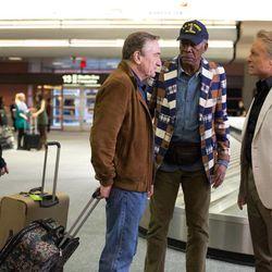 "Kevin Kline, Robert De Niro, Morgan Freeman and Michael Douglas in ""Last Vegas."""