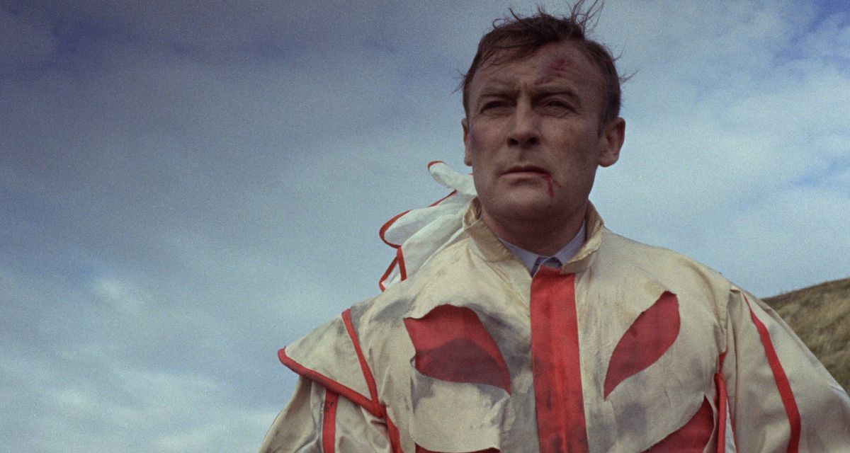 Neil Howie in circus clothes in The Wicker Man