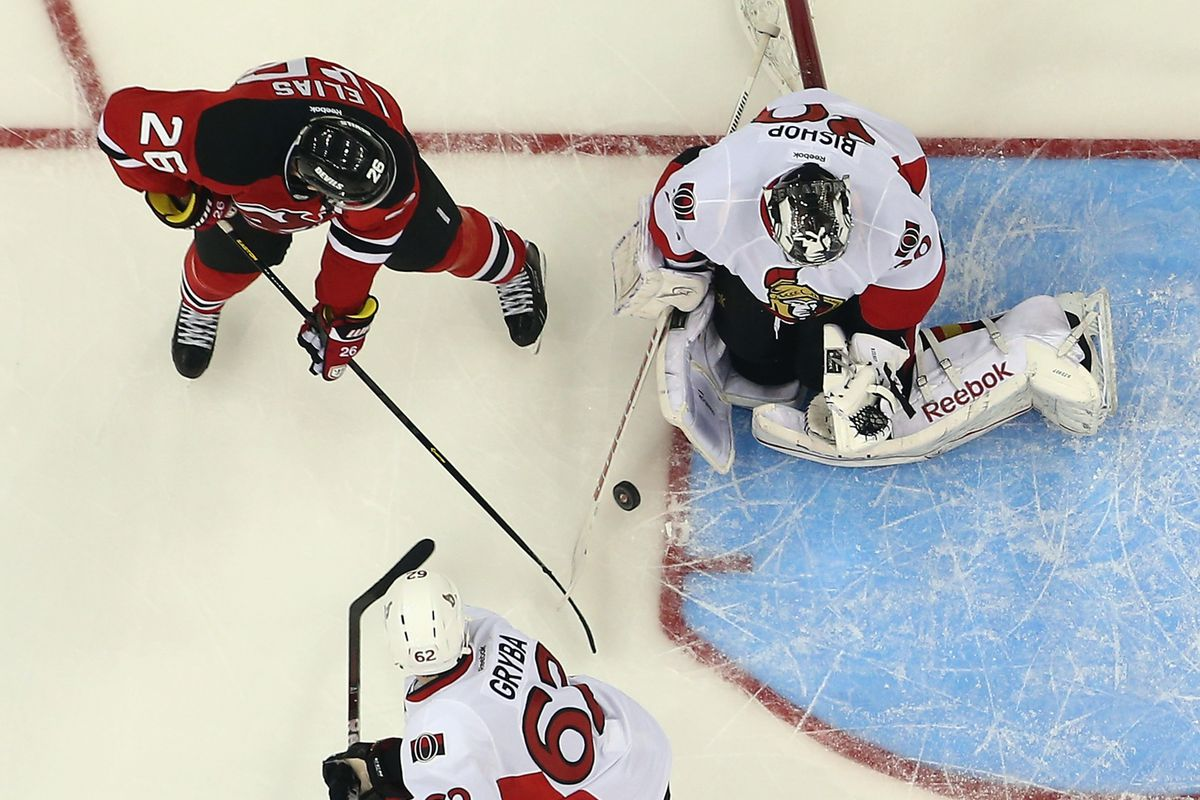 Can the Devils get pucks on Bishop and possibly through him?