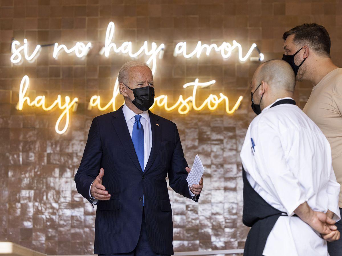 President Biden Visits Washington Restaurant