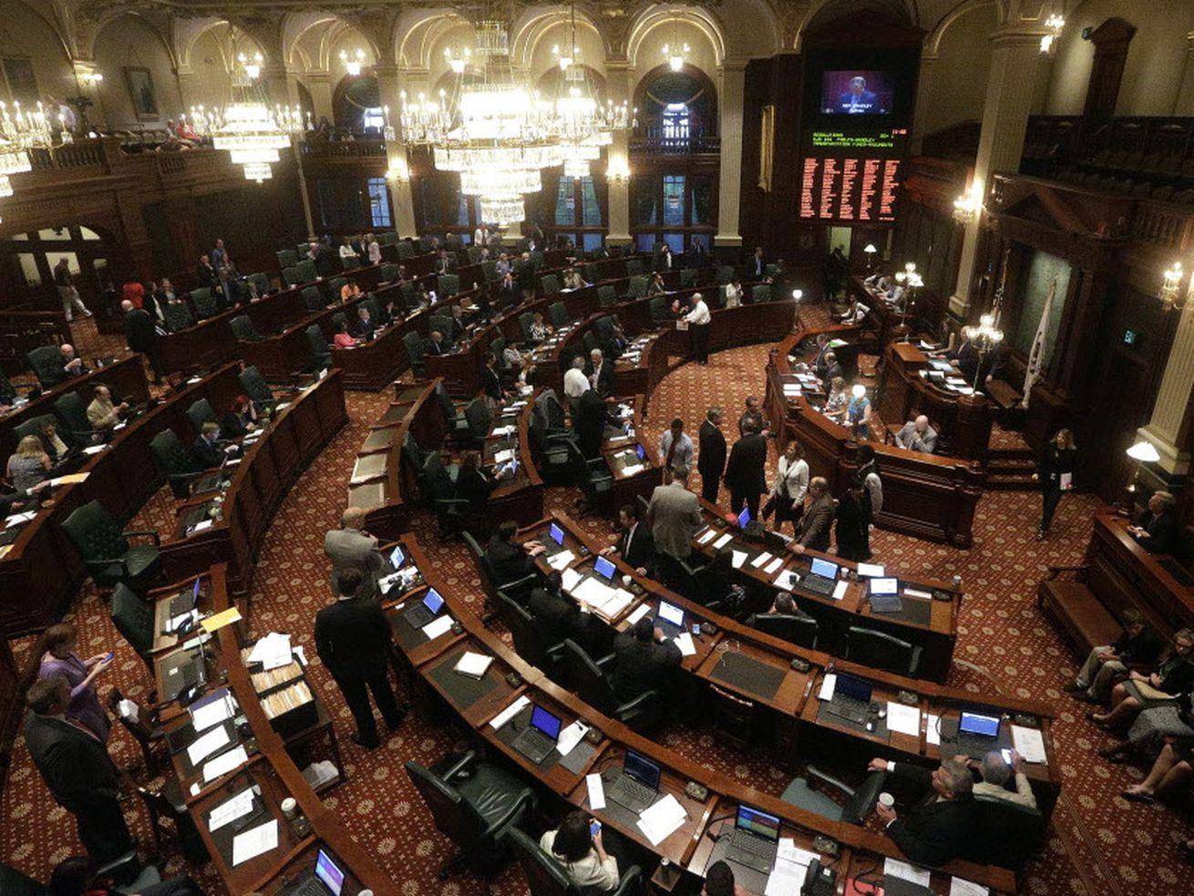 The Illinois House of Representatives.