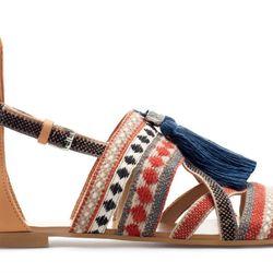 "Zara <a href=""http://www.zara.com/webapp/wcs/stores/servlet/product/us/en/zara-nam-S2013/358009/1208048/SANDALS+WITH+TASSELS"">sandals with tassels</a>: ""Zara can do no wrong. Here's proof."""