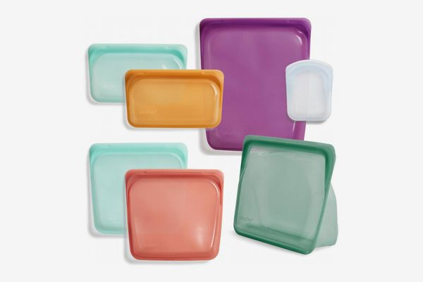 Seven assorted silicone reusable bags