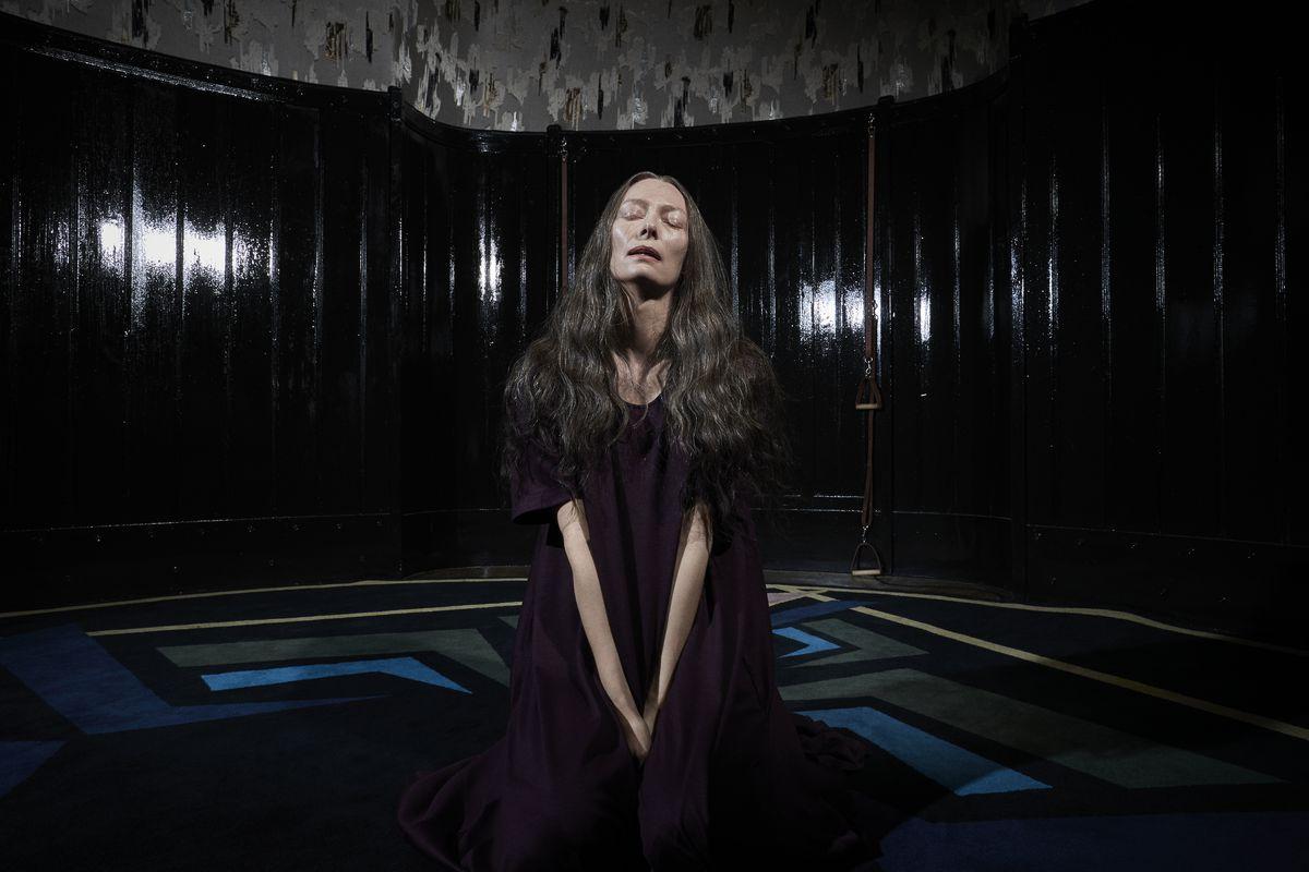 Tilda Swinton as Madam Blanc stars in Suspiria