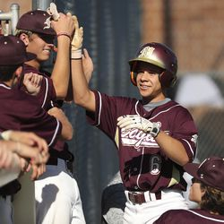 Maple Mountain and Cottonwood play during Last Chance Tournament in Spanish Fork on Thursday, May 28, 2020.