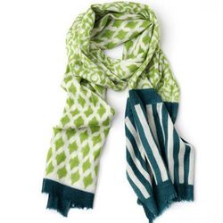 """HoneyComb Scarf in Green/Teal, <a href=""""http://www.achengshop.com/products/wool-scarf"""">$138</a> at A Cheng"""