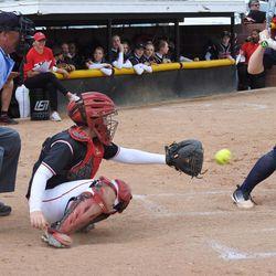 Grantsville catcher Breana Hiatt has become a key part of the Cowboys' softball success.