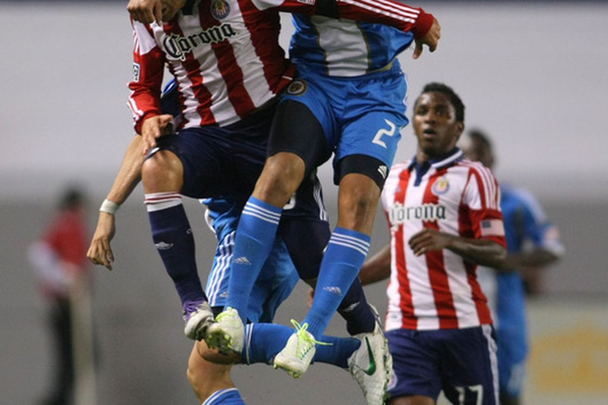 CARSON, CA - APRIL 21:  Chivas - hanging tough again this week (Photo by Victor Decolongon/Getty Images)