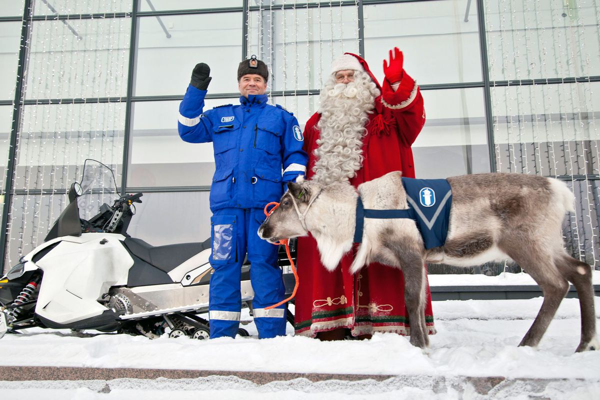 """A reindeer in Finland who plays an """"educational and informational"""" role within the Finnish police. Russian police reindeer would presumably have operational duties."""