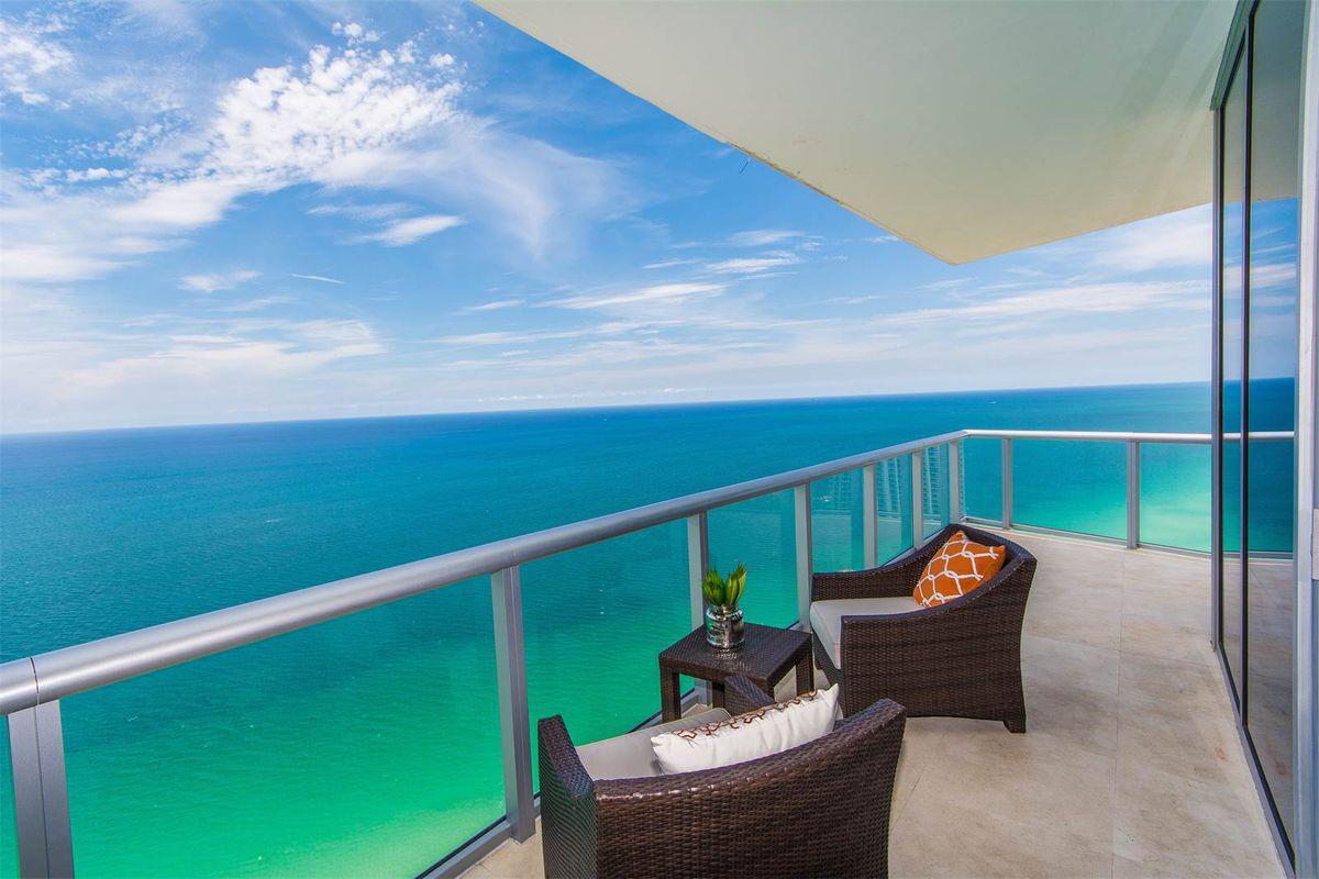 A Sunny Isles Beach condo with sweeping ocean views