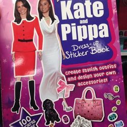 """Kate and Pippa Dress-Up Sticker Book, $7.95 at <a href=""""http://www.chocolatemoosedc.com"""">Chocolate Moose</a>"""